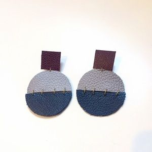 Leather Statement Earrings